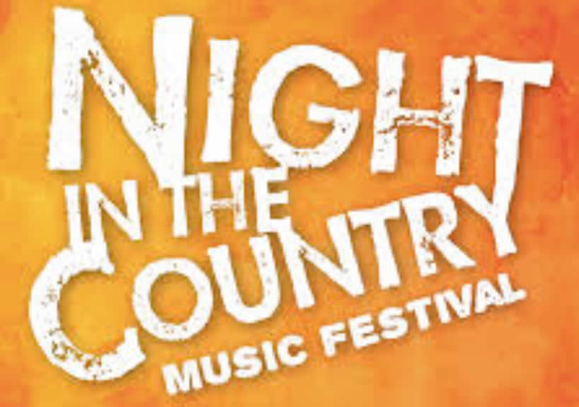 Night in the country music festival logo