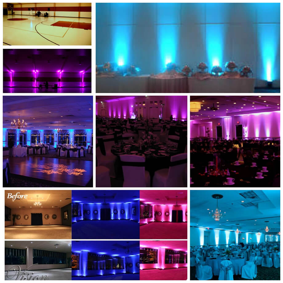Engagement & Wedding Stage Lighting: Systems & Kits Aspiring Led Moving Head Lighting Fixture For Parties And Events